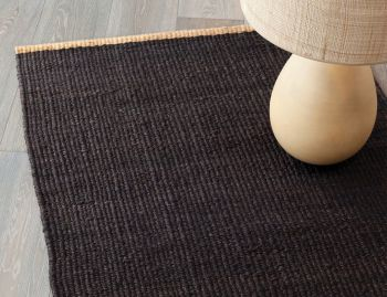 Nest Jute Weave Charcoal with Natural Turnover Rug by Armadillo&Co image