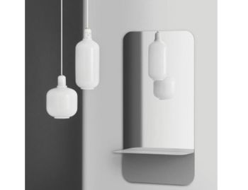 Amp Pendant Lamp White by Simon Legald for Normann Copenhagen image