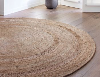 Petunia Jute Weave Natural Round Rug by Armadillo&Co image