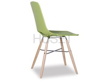 Wasowsky Dining Chair Green with Solid Beechwood Legs by Enrique Marti for OOLand image