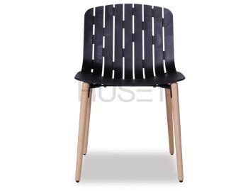 Gotcha Chair Black With Beechwood Legs by Enrique Marti for OOLand image