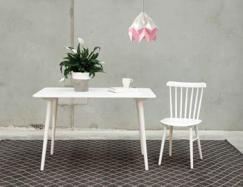 White Ironica 120cm Dining Table by Tom Kelley for TON image
