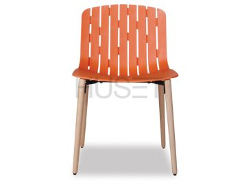 Gotcha Chair Orange With Beechwood Legs by Enrique Marti for OOLand image
