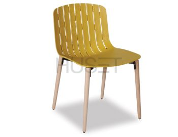 Gotcha Chair Mustard Gold With Beechwood Legs by Enrique Marti for OOLand image