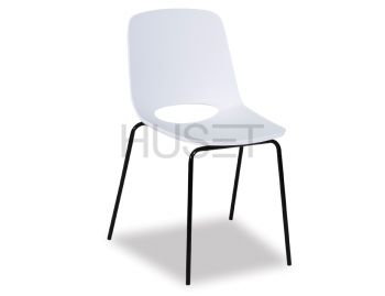 Wasowsky Dining Chair White with Black Post Legs image
