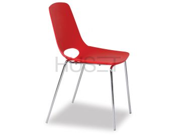Wasowsky Dining Chair Red with Post Legs by Enrique Marti for OOLand image