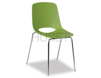 Wasowsky Dining Chair Green with Post Legs by Enrique Marti for OOLand image
