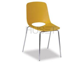 Wasowsky Dining Chair Mustard with Post Legs by Enrique Marti for OOLand image
