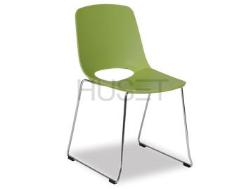 Wasowsky Dining Chair Green with Sled Legs by Enrique Marti for OOLand image