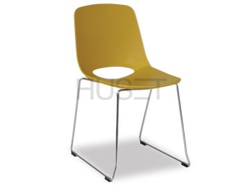 Wasowsky Dining Chair Mustard with Sled Legs by Enrique Marti for OOLand image