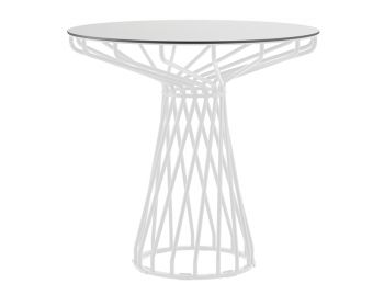 Velletri White 76cm HPL Laminate Indoor Outdoor Cafe Table by Glid Studio for Huset image