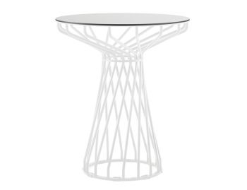 Velletri White 62cm HPL Board Indoor Outdoor Cafe Table by Glid Studio for Huset image