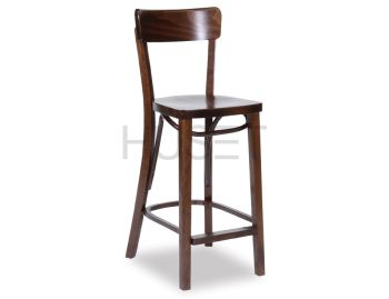Walnut Francois Bentwood Bar Stool by Michael Thonet image