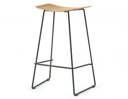 Winnie Stool Black Oak Seat