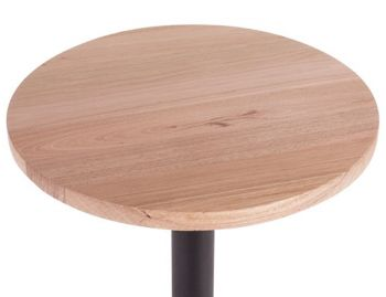 Australian Made Solid Vic Ash Round Timber Cafe Table Top (Min order 5) image