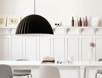 Under The Bell Black 82cm Pendant by Iskos Berlin for Muuto image