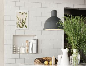 Unfold Pendant Grey by Form Us With Love for Muuto image