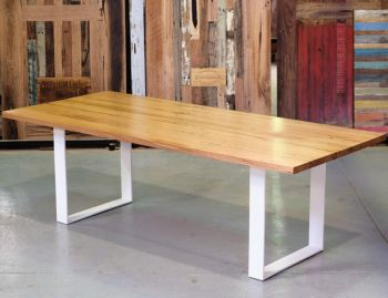 Form Custom Australian Made Recycled Messmate / Blackbutt Box End Legs Dining Table image
