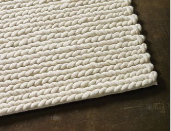 Rope Weave Ivory NZ Wool Rug image