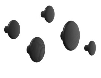 Black The Dots (Set of 5) by Lars Tornoe for Muuto  image