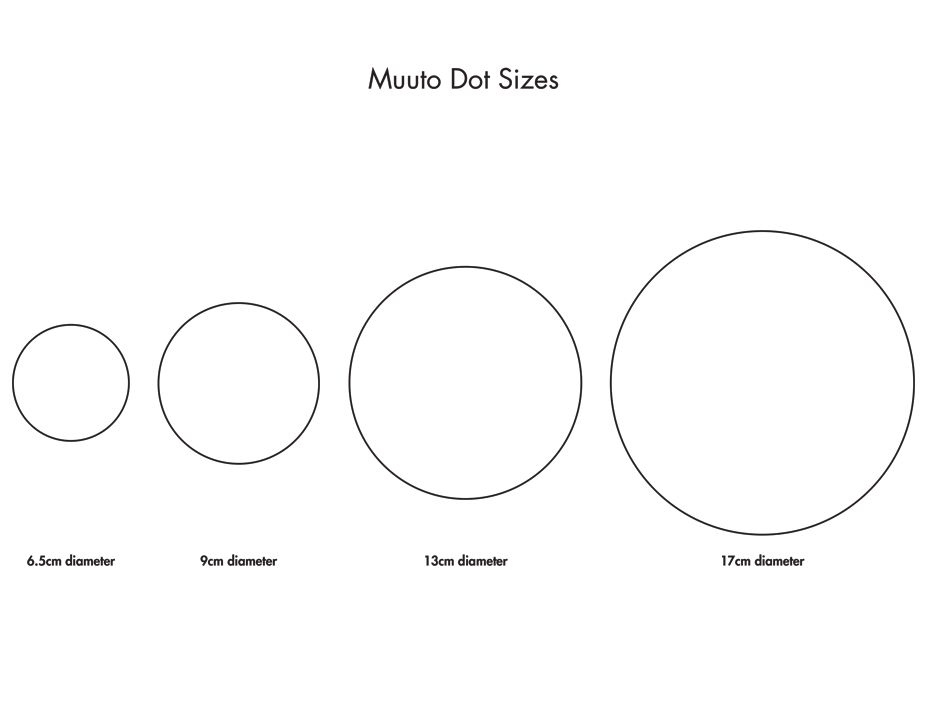 Muuto Dot Sizes