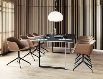 Black 70/70 Dining Table by TAF Architects for Muuto image