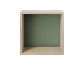 Stacked Shelf Medium Oak Dusty Green Backboard by JDS Architects for Muuto  image