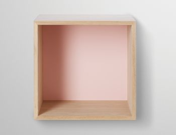 Medium Ash With Rose Back Board Stacked Shelf by JDS Architects for Muuto  image