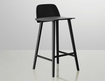 Nerd Bar Stool Black by David Geckeler for Muuto image