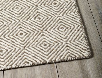 Braid Diamond Natural Grey Flatweave Hall Runner 3m x 0.8m image