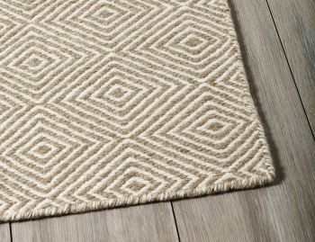 Braid Diamond Natural Beige Flatweave Hall Runner 3m x 0.8m image