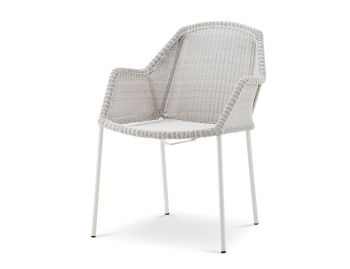 Light Grey Breeze Stackable Outdoor Dining Chair by Strand & hvass For Cane-line  image