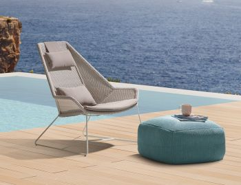 White Breeze Outdoor Highback Chair by Strand & hvass For Cane-line  image