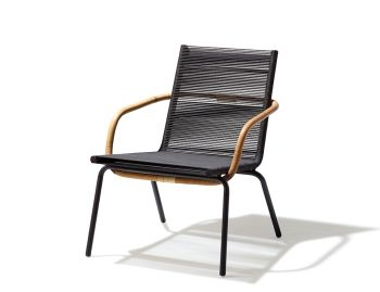 Dark Brown SIDD Lounge Chair by Johannes Foersom for Cane-line image