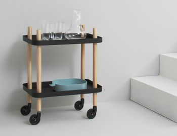 Black Block Mobile Side Table by Simon Legald for Normann Copenhagen  image