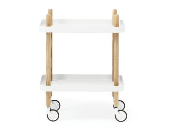 White Block Mobile Side Table by Simon Legald for Normann Copenhagen  image