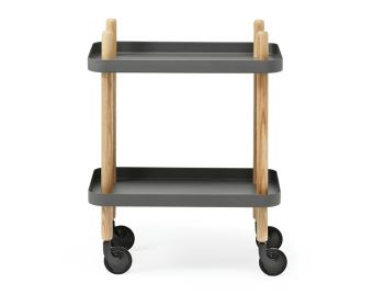 Dark Grey Block Mobile Side Table by Simon Legald for Normann Copenhagen  image