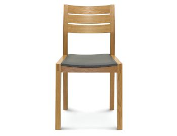 Myola Natural Oak Timber Dining Chair w Black Pad image