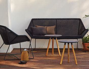Black Breeze 2 Seat Sofa by Strand & hvass For Cane-line  image