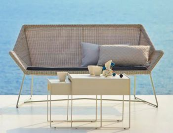 Light Grey Breeze 2 Seat Sofa by Strand & hvass For Cane-line  image