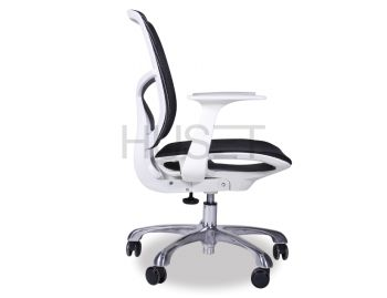 Chilli Chrome ErgoMesh Black Mesh / White Plastic Ergonomic Office Chair with Low Back by Huset  image