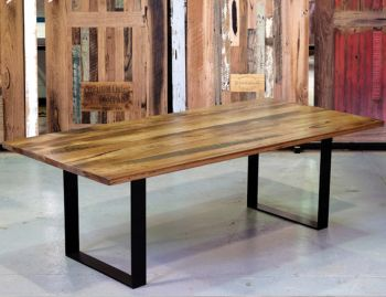 Form Custom Australian Made Recycled Stringy Bark Box End Legs Dining Table image