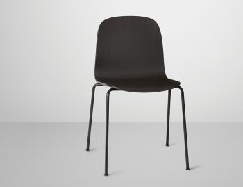 Visu Chair with Wood Seat & Tube Base by Mika Tolvanen for Muuto  image