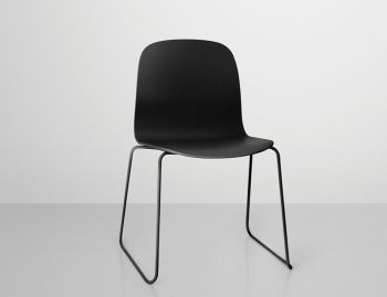 Visu Chair with Wood Seat & Sled Base by Mika Tolvanen for Muuto  image