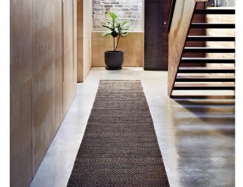 Serengeti Weave Charcoal and Natural Hall Runner 4m x 0.8m by Armadillo & Co  image