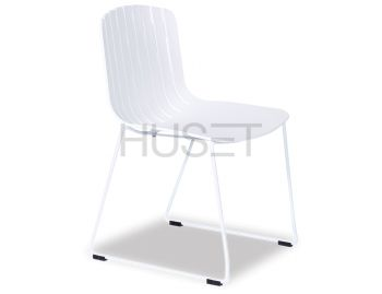 Gotcha Chair White with White Sled Legs by Enrique Marti Associates for OOLand image