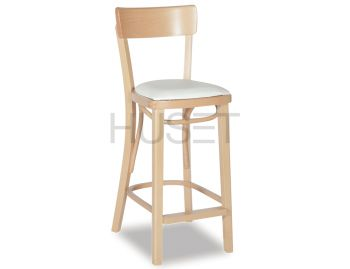 Natural Francois Bentwood Bar Stool w Seat Pad by Michael Thonet image