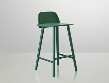 Nerd Bar Stool Green by David Geckeler for Muuto image