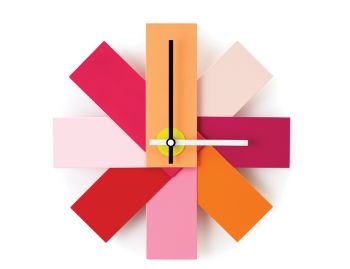 Pink Watch Me Wall Clock by Rasmus Gottliebsen for Normann Copenhagen image