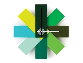 Green Watch Me Wall Clock by Rasmus Gottliebsen for Normann Copenhagen image
